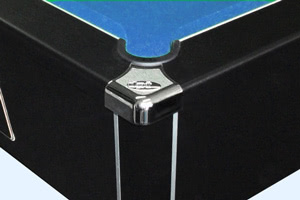 The corner cap on the Omega pool table