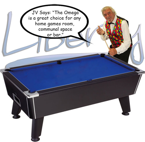 John Virgo endorses the Omega pool table
