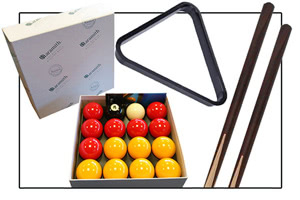 Accessories supplied with the Majestic pool table