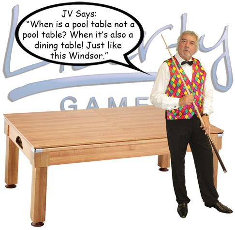 John Virgo endorses the Windsor pool table