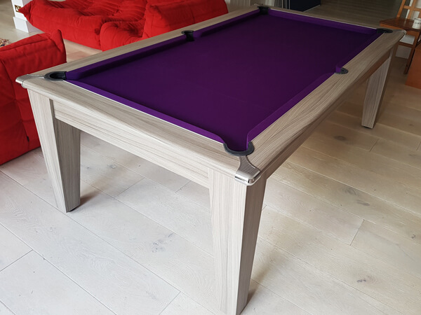 Finish options for the Supreme Slimline pool table