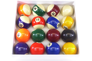 Spots & Stripes balls included with the Pro II pool table