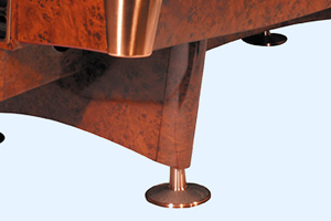 The legs of the Buffalo Pro 2 pool table