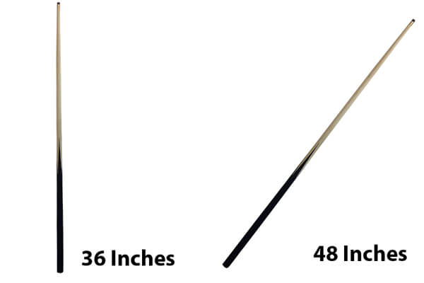 A 48 Inch & A 36 Inch Pool Cues