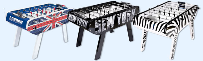 The B90 foosball table in various colour options
