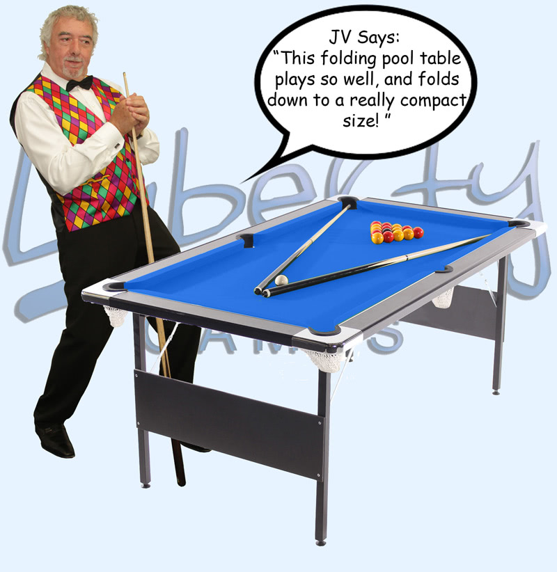 Foldaway Pool Table Liberty Games - Fold up pool table full size