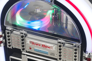 The RR1000 jukebox is fitted with a quality CD player.