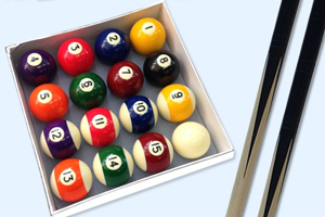 The accessories provided with the RPT-6F pool table