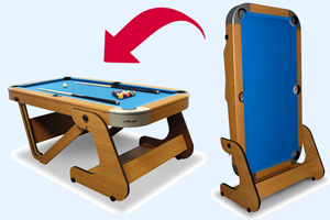 The RPT-6F pool table folding