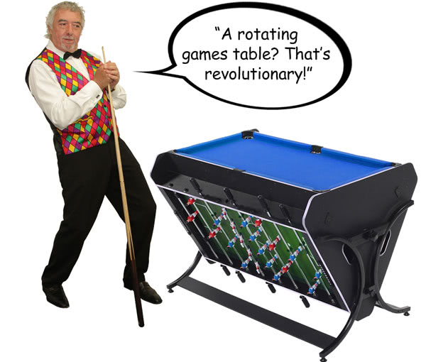 John Virgo endorses the Trisport multi games table
