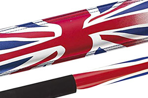 The Powerglide Union Jack cue graphics