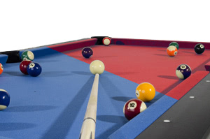Balls in play on the Pro American pool table