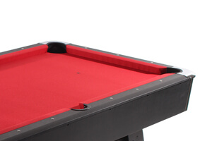 The playfield of the Strikeworth Pro American Deluxe 7ft Pool Table