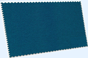 Blue pool table cloth swatch