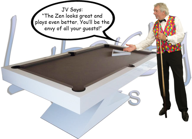 John Virgo endorses the Zen luxury pool table