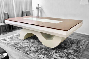 The Picasso pool table with table top
