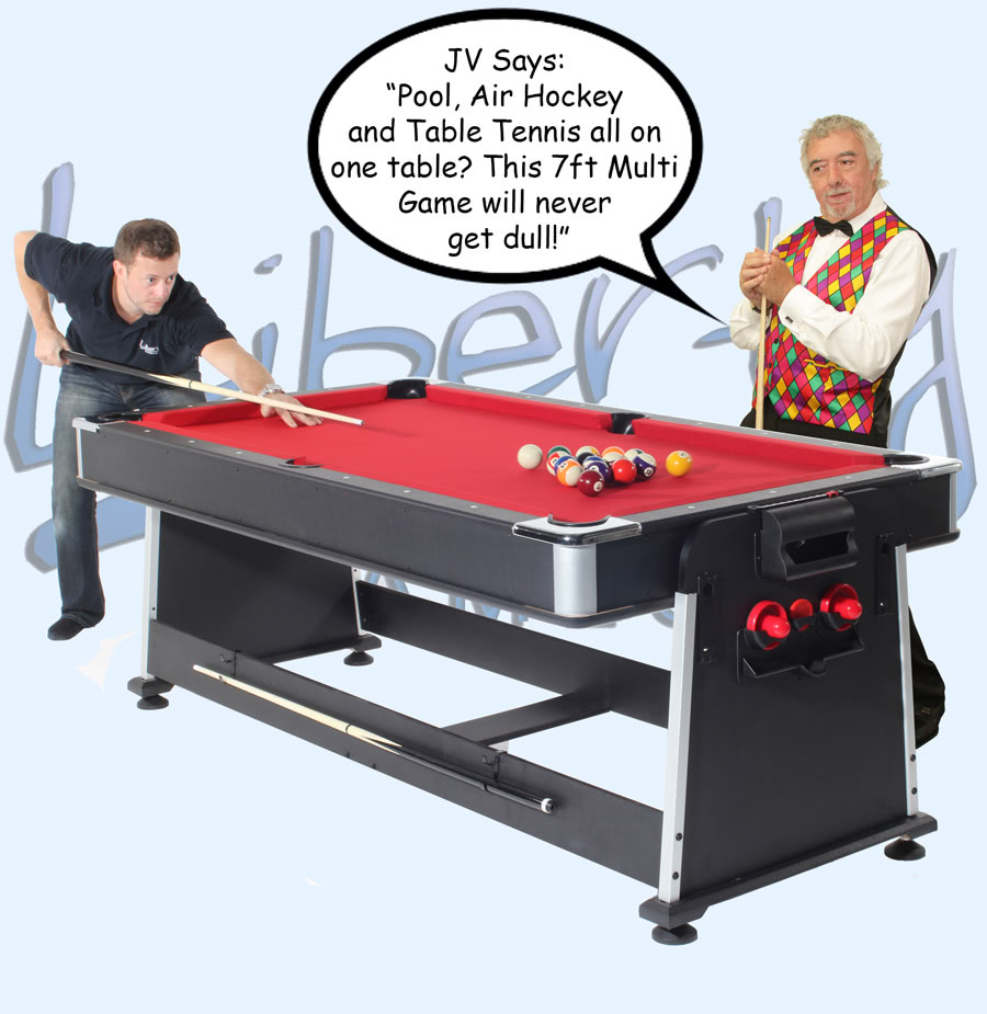 John Virgo endorses the 7ft Multi Games table