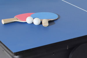 The 7ft Multi Games table includes a table tennis top