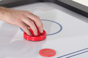 The 7ft Multi Games table's fast, exciting air hockey playfield