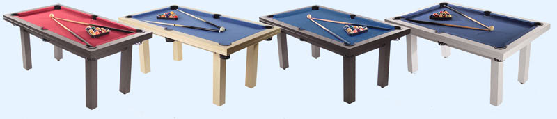 The Amalfi pool dining table comes in four colours