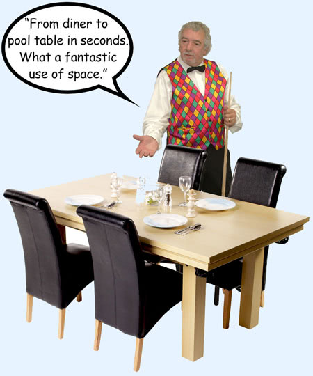 John Virgo endorses the Amalfi home pool table