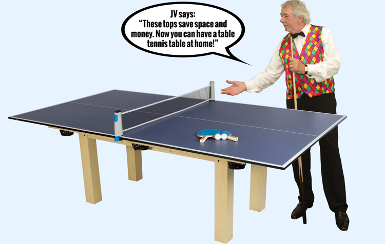 John Virgo endorses the Tekscore table tennis tops