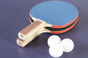 Free accessories supplied with the Tekscore table tennis top