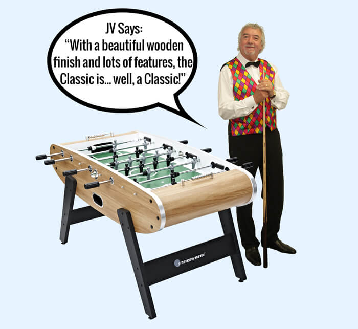 John Virgo endorses the Classic football table