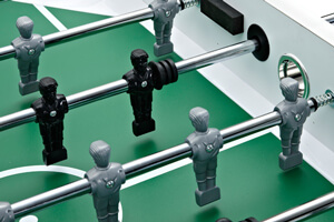 The Classic foosball table has a regulation 4ft pitch