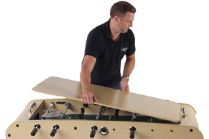 The Classic foosball table includes a table top