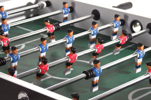 The Tekscore Folding foosball table has a full-size pitch