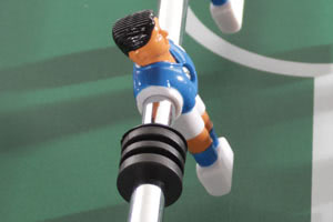 Player figures on the Tekscore have wedge-shaped feet