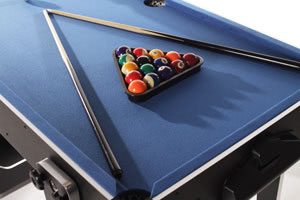 The 5ft Multi Game features a pool table