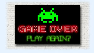 Game Over neon light