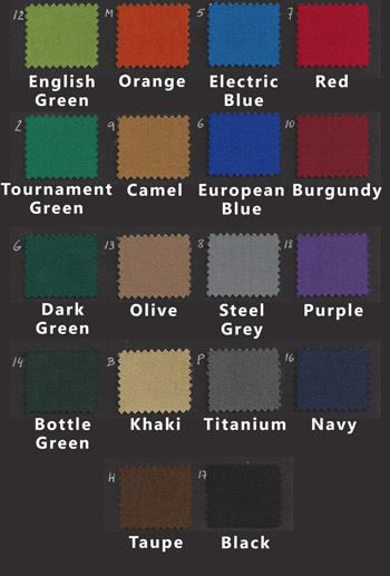P40 Etrusco cloth swatches