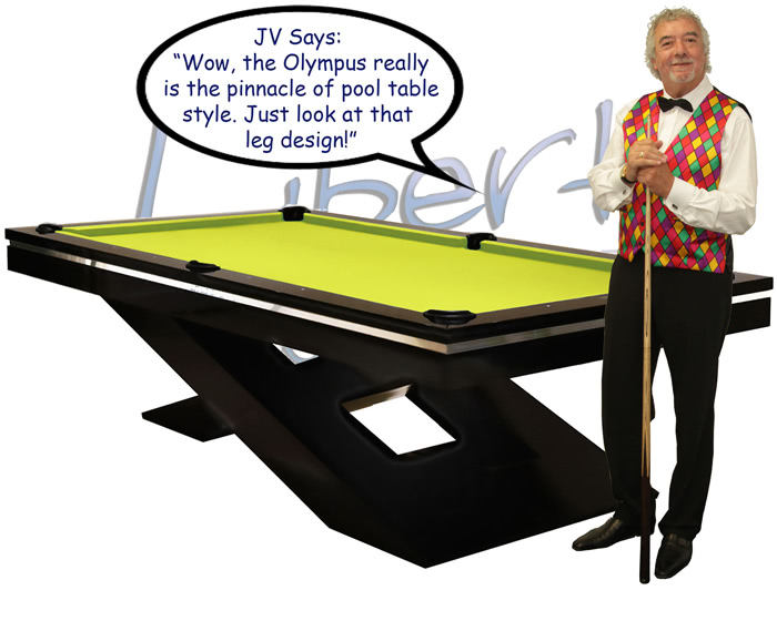 John Virgo endorses the Olympus luxury pool table
