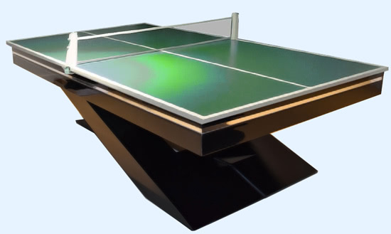 The Olympus pool table with table tops fitted