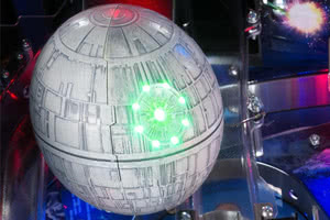 The Death Star toy on the Stern Star Wars pinball machine