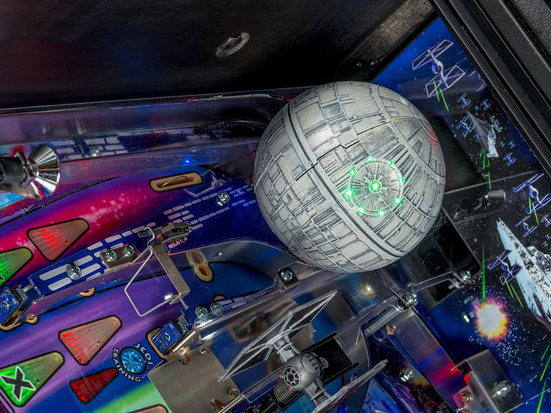 Part of the playfield on the Stern Star Wars Pro pinball machine