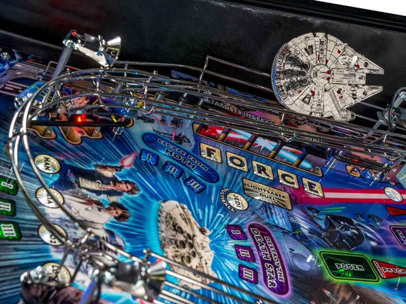 Part of the playfield on the Stern Star Wars Premium pinball machine