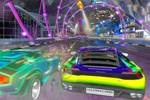 Screenshot from Cruis'n Blast arcade game