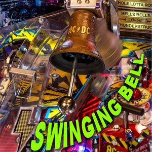 The swinging bell on the Stern AC/DC Vault pinball machine