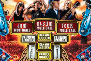The game modes on the AC/DC Vault pinball machine