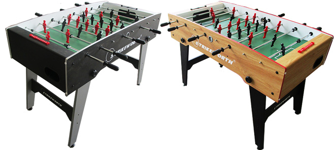 The Free Kick football table comes in two colours - wood and black
