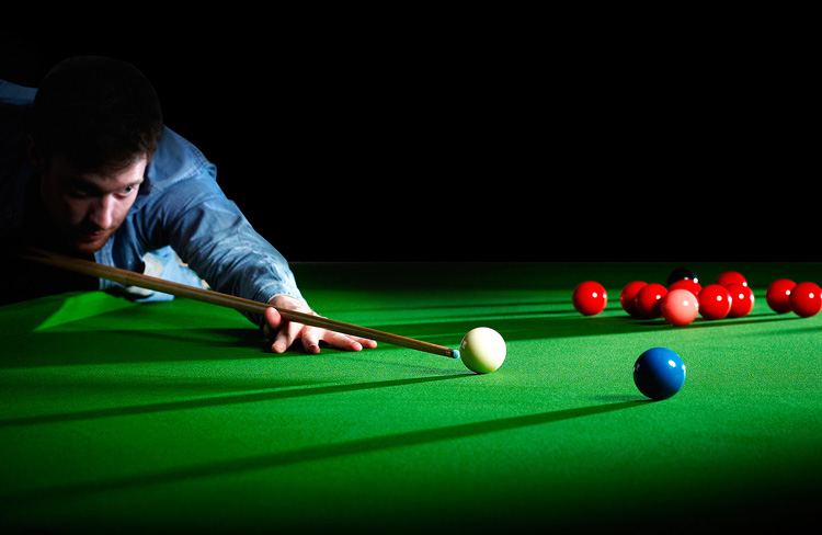 The Precision pool and snooker cloth in play