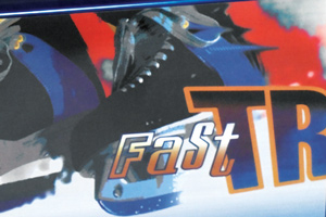 The artwork on the Fast Track Mk2 air hockey table