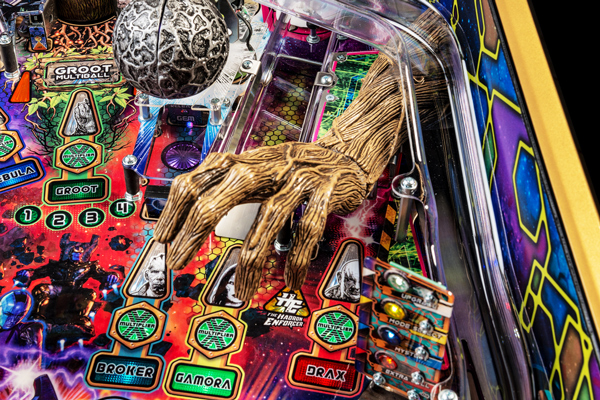 Part of the playfield on the Stern Guardians LE pinball machine