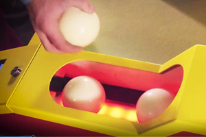 Balls in the Roll & Jump skee-ball machine