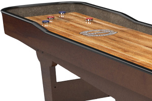 The finish on the Gentry shuffleboard table