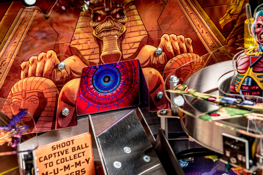 Playfield detail from the Stern Iron Maiden Pro Pinball Machine